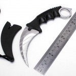Counter Karambit TIGER TOOTH SILVER